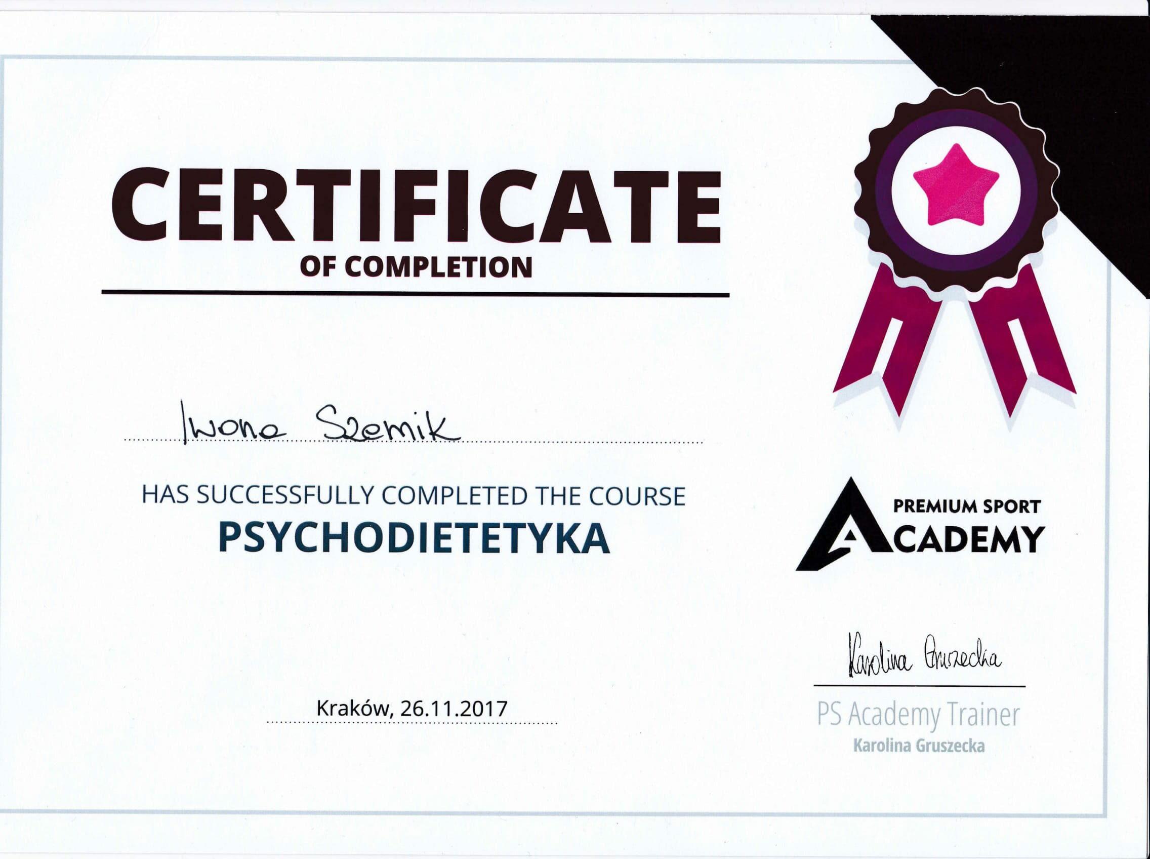 certyfikat-szkolenie-psychodietetyka-iwona-szemik