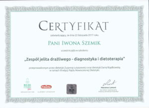 certyfikat-szkolenie-zespol-jelita-drazliwego-iwona-szemik