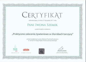 certyfikat-szkolenie-zywienie-choroby-tarczycy-iwona-szemik